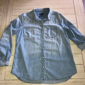 Gap denim button down shirt